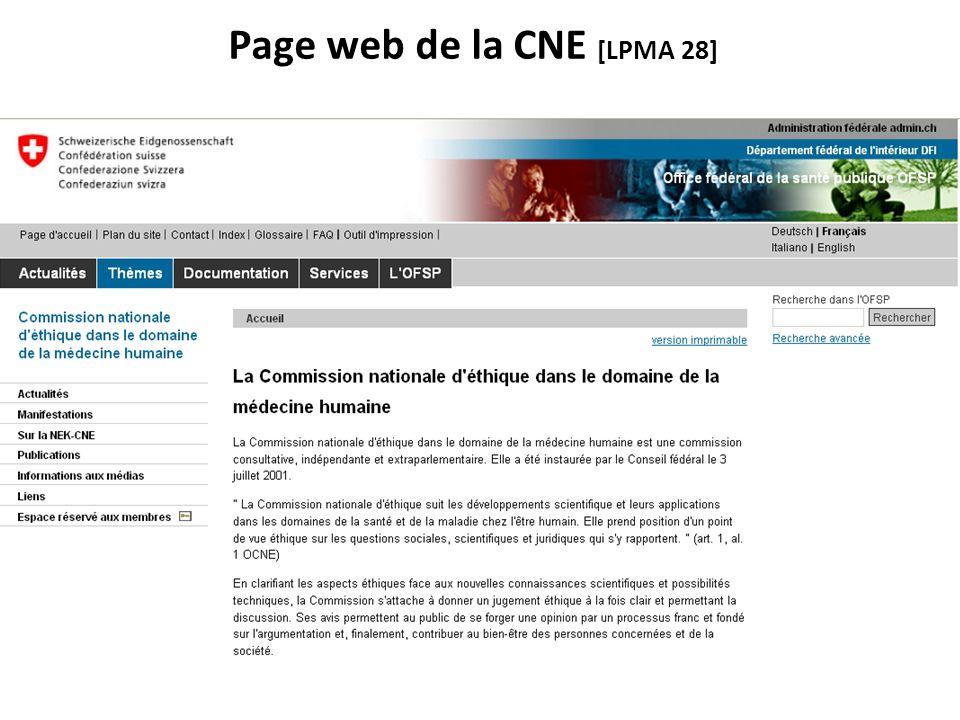 Page web de la CNE [LPMA 28]